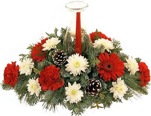 Christmas flowers table centerpiece arrangements