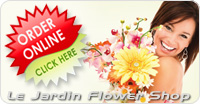 Order Flowers Online at Le Jardin Flower Shop :: CLICK HERE