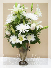 Mont-Blanc Funeral Flower Arrangement