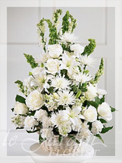 Peaceful Thoughts Funeral Flower Arrangement