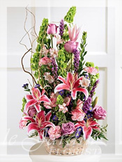 Colorful Condolences Funeral Flower Arrangement