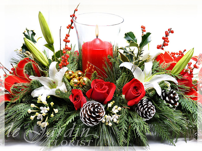 Christmas centerpieces flower arrangements merry