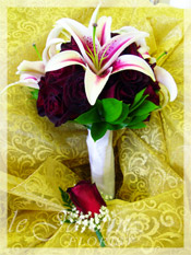 Roses and Lilies Bridal Bouquet