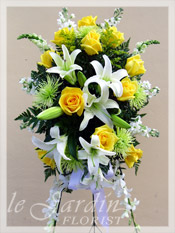Gentle Thoughts Spray Funeral Flower Arrangement